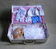Baby Girl Doll in Suitcase New GREECE GREEK el greco 80s Vintage Unique