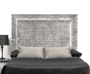 """44"""" inch Tall Wall Mounted STUDS STYLE Headboard CRUSHED VELVET All size Colours"""