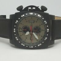 Carbon 14 Men's A1.3 Air Collection Avionautic Chronograph Leather Sport Watch