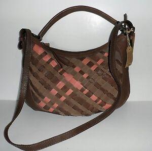 LUCKY Robertson WOVEN LEATHER Convertible Hobo Shoulder Bag/Crossbody $219 NEW