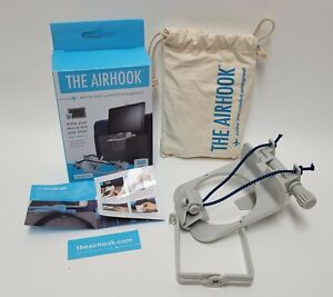 The Airhook Set Airline & Car Phone Tablet Device Drink Holder Hands-Free GREY