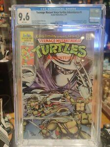 Teenage Mutant Ninja Turtles Adventures #1 CGC 9.6 White Pages Archie Comic 1989