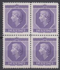 CANADA #330 4¢ Queen Elizabeth II Coronation Block of Four MNH