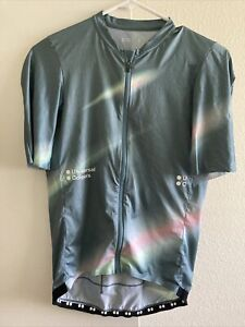 Universal Colours Short Sleeve Cycling Jersey Green Teal Blur Large Rapha Maap
