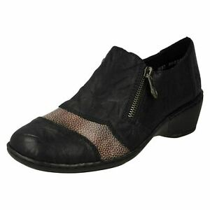 Rieker 47160-00 Ladies Leather Shoe