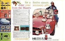 1965 SHELBY COBRA / VILEM B HAAN SPORTS CAR ACCESSORIES ~ ORIGINAL 2-PG PRINT AD