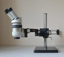 Wild (Leica) M7A Microscope with Pair of 10x/21 Eyepieces on Dual Arm Boom Stand