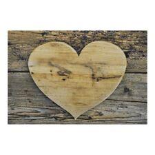 Fußmatte Holz Herz Küchenmatte Landhausstil Doormat