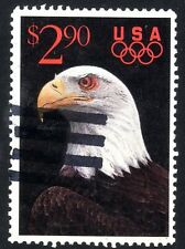 Sc# 2540 $2.90 Eagle and Olympic Rings (1991) Used Single SCV $1.50  Read