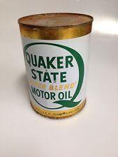 Vintage Quaker State Super Blend Motor Oil 10W-20W 30, 1qt Metal Can, Unopened
