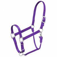 Tough-1 PURPLE Premium Nylon Halter with Snap Horse Tack 50-910H