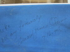 EDWARD JAMES OLMOS cloth napkin  AUTOGRAPHED