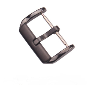 Stainless Steel Watch Buckle Clasp Silver Black PVD 16mm to 22mm Brushed Dive
