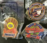 3 - Snickers Little League World Series 2003 & Offical Candy Baseball Pins LLWS