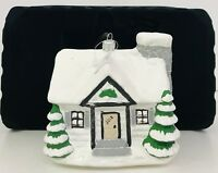 Trimsetter Christmas Ornament House With Snow Handcrafted Glass Poland 2018