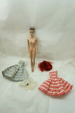 VINTAGE BARBIE DOLL FASHION QUEEN 2 TAGGED SUN DRESSES COLOR MAGIC WIG LOT