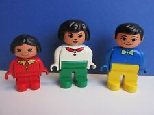 rare DUPLO lego ETHNIC asian FAMILY FIGURE SET mum dad girl HOUSE 38A