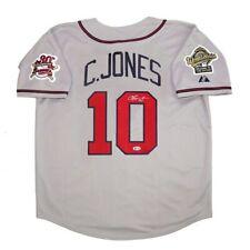 Chipper Jones signed Atlanta Braves 1995 World Series Road Grey Jersey BECKETT