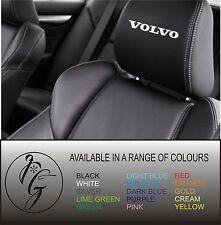 5 VOLVO CAR SEAT Head Rest Decalcomania Adesivo Vinile GRAPHIC LOGO BADGE POST libero