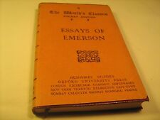 Red Leather 1921 ESSAYS OF EMERSON The World's Classics POCKET EDITION  [Z39]