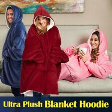 Fleece Hoodie Blanket Oversized Ultra Plush Sherpa Giant Soft Hooded Sweatshirt.