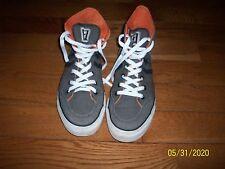 Converse All Star Gray/Black/Orange /White Shoes - Size 11 for Men  Women 12.5