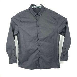 Adidas Adicross Button Front Shirt Charcoal Gray Large