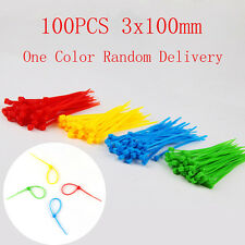 100pcs 3x100mm Self-Locking Network Nylon Cable Ties Wire Zip Cord Strap Ties