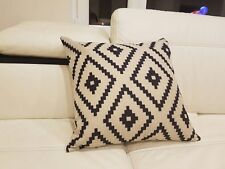 Indio Geometric Black Diamond Tribal Boho Accent Decorative Throw Pillow Decor