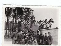 Foto 2.WK  Flak Geschütz  Luftwaffe Kaserne Dessau ca. 1940 Wehrmacht WW2 C41