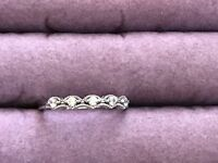 NVDR Sterling Silver 925 Cubic Zirconia band ring size 10