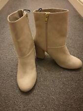 Cream H&M Heeled Boots