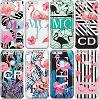 DYEFOR PERSONALISED INITIALS FLAMINGOS PHONE CASE COVER FOR GOOGLE