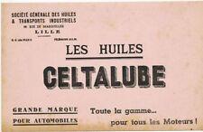 ANCIEN BUVARD PUBLICITAIRE BLOTTER VLOIPAPIER LES HUILES CELTALUBE LILLE