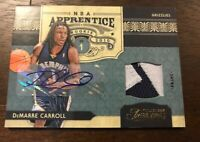 2009-10 Timeless Treasures DeMarre Carroll Auto Prime Patch RC 8/10 Spurs