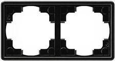 Gira S-Color schwarz, RAHMEN 2-FACH 021247