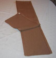 MAHARISHI PRODUCTIONS  WOOL SCARF 100% wool Light Brown