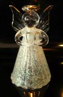 Angel Figurine Clear Glass Wings