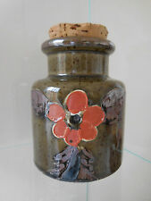 pot condiments grès émaillé peint main art nouveau CERAMIC by PN