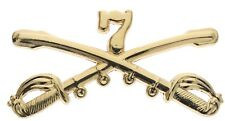 "ARMY 7TH CAVALRY GOLD LAPEL HAT PIN 2"" BADGE"