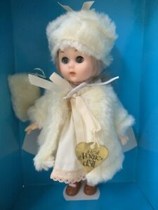 """Vogue 8"""" World of Ginny Doll Winter Chill White Fur Coat Dress Set Outfit New"""