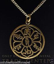 Amuleto CHENREZIG Mantra compasión Talismán de NEPAL símbolo de buena suerte