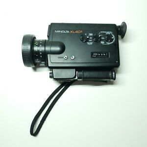Vintage MINOLTA XL401 Super 8 Movie  Camera ~ needs repair sold as Is