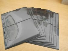 15 used Lighthouse Vario Stocksheets 2 pockets 21.8x28.3 2-sided Ref XE6