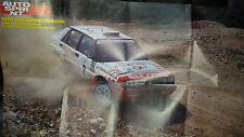 Poster LIATTI TEDESCHINI su Lancia delta integrale 16V  Campioni europei 1991