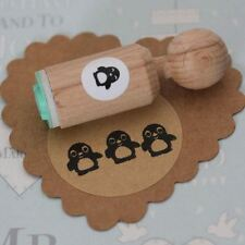 Penguin ronda de sello de goma-muy Mini-Craft/Sello De Scrapbooking