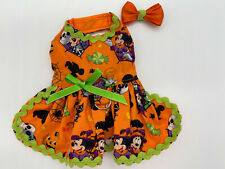 Handmade Dog Dress Minnie Mouse Witch Theme Dog Harness Xxsmall w Free Hair Bow