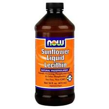 NOW FOODS SunFlower Lecithin Liquid 16oz. Bottle  Fresh 10/2019EXP!
