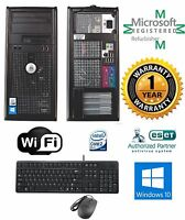 CLEARANCE!!! Fast DELL Tower Computer PC Deal Core 2 Duo Windows 10 Wifi