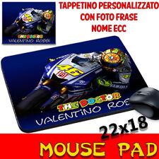 Moto The Doctor Valentino rossi 46 Mouse Pad personalizzabile con nome foto